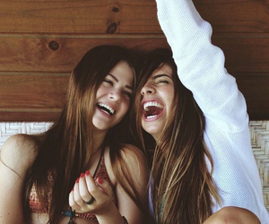 best friends, funny, and laughing image