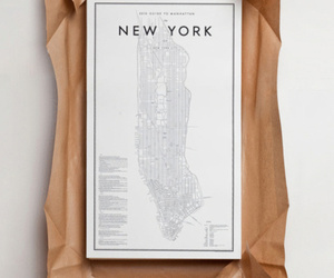 new york, map, and Paper image