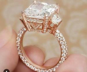 diamond, ring, and gold image