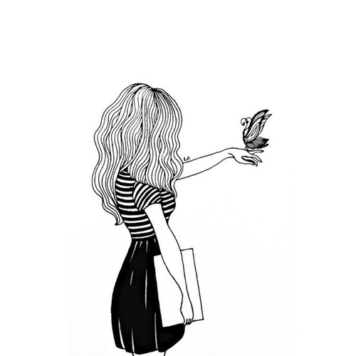 girl, art, and black image