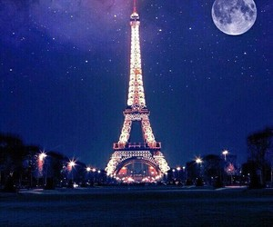 paris, moon, and france image