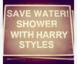 Harry Styles, one direction, and shower image