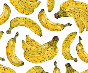 banana, pattern, and yellow image