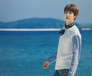 jin, summer package, and kpop image