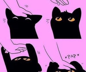cat, black, and kawaii image