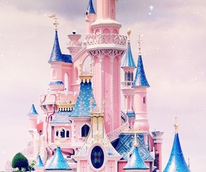 disney, castle, and pink image