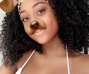 black, brown skin, and girl image