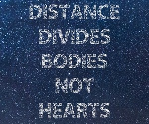 distance, feelings, and hearts image