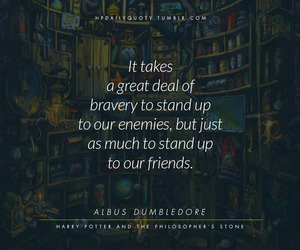 albus dumbledore, bravery, and harry potter image