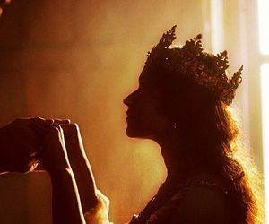 Queen, crown, and merlin image