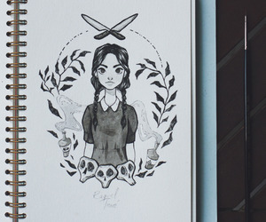 drawing, goth, and ink image