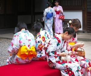japan, yukata, and Nippon image