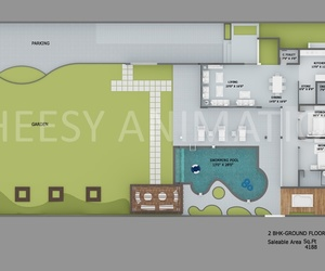 3d floor plan design, 3d bungalows floor plan, and hotel rendering image