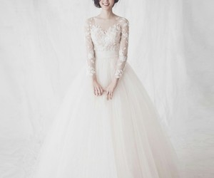 bride, bridge, and dresses image