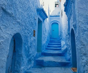blue, morocco, and travel image