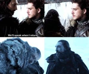 game of thrones, jon snow, and benjen stark image