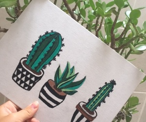 cactus, paint, and plan image