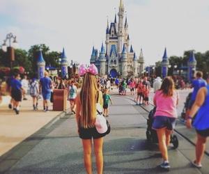 blonde, castle, and disneyland image
