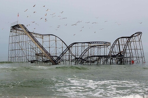 sea, Roller Coaster, and ocean image