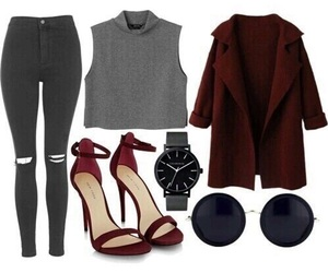 outfit, fashion, and heels image