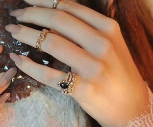 hand, jewellery, and rings image