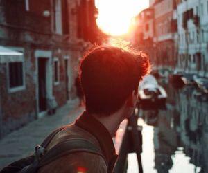 boy, sun, and travel image