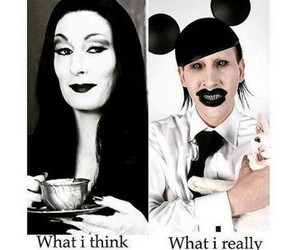 black, funny, and Marilyn Manson image