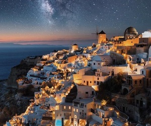 Greece, travel, and stars image
