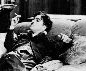 black and white and charlie chaplin image