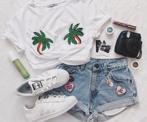 outfit, fashion, and palm trees image