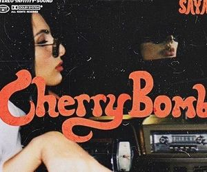 cherry, vintage, and bomb image