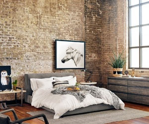 architecture, bedroom, and bricks image