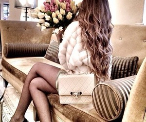 fashion, hair, and flowers image