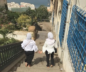 hijab, sisters, and algerie image