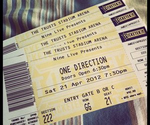 one direction and ticket image