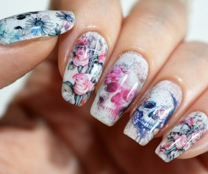 nail art, water decals, and plus10kapow image