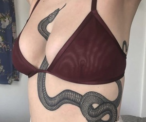 tattoo, snake, and body image