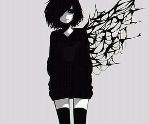 anime, tokyo ghoul, and black image
