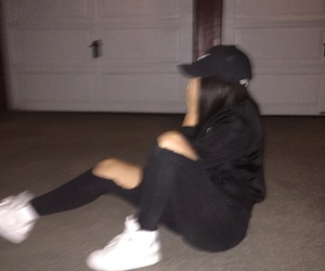 girl, blurry, and night image