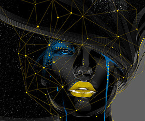 art, woman, and black image