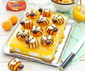 bees, cheese cake, and cream image