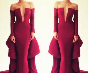 dress, fashion, and red m prom image