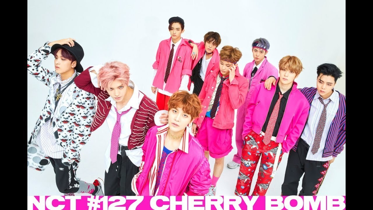 SM, cherry bomb, and nct127 image