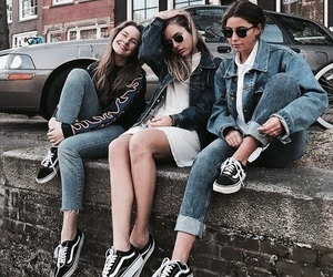 denim, fashion, and friends image