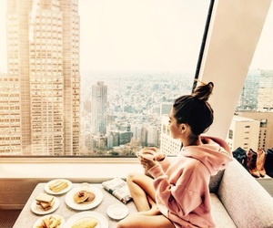 food, girl, and breakfast image