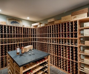 basement, interior, and wine room image