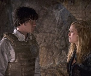 the 100, clarke griffin, and bellamy image