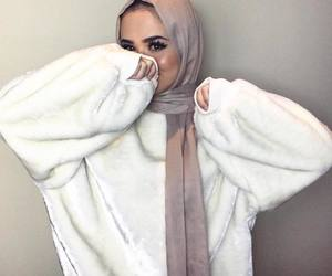 autumn, fashion, and hijab image