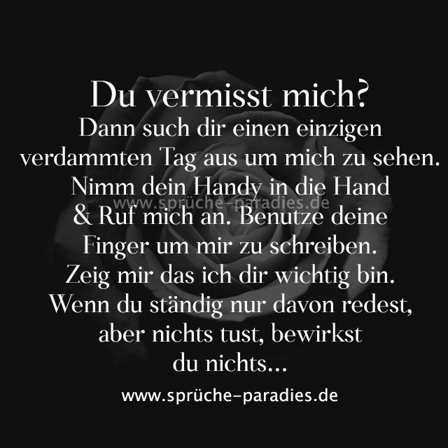Du vermisst mich? discovered by Sprüche Paradies