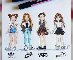 adidas, nike, and drawing image
